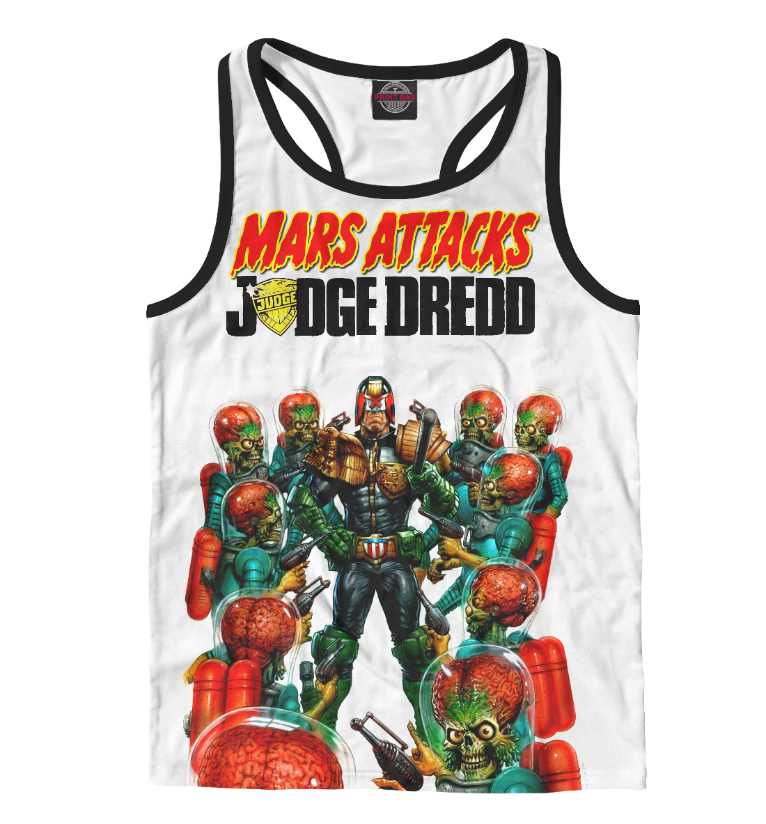 Купить Mars attacks Judge Dredd, Printbar, Майки борцовки, CMX-464028-mayb-2