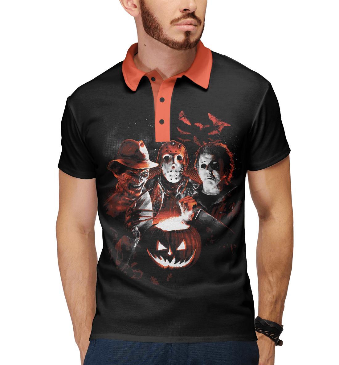 Купить Halloween Horror Team, Printbar, Поло, HOR-516046-pol-2