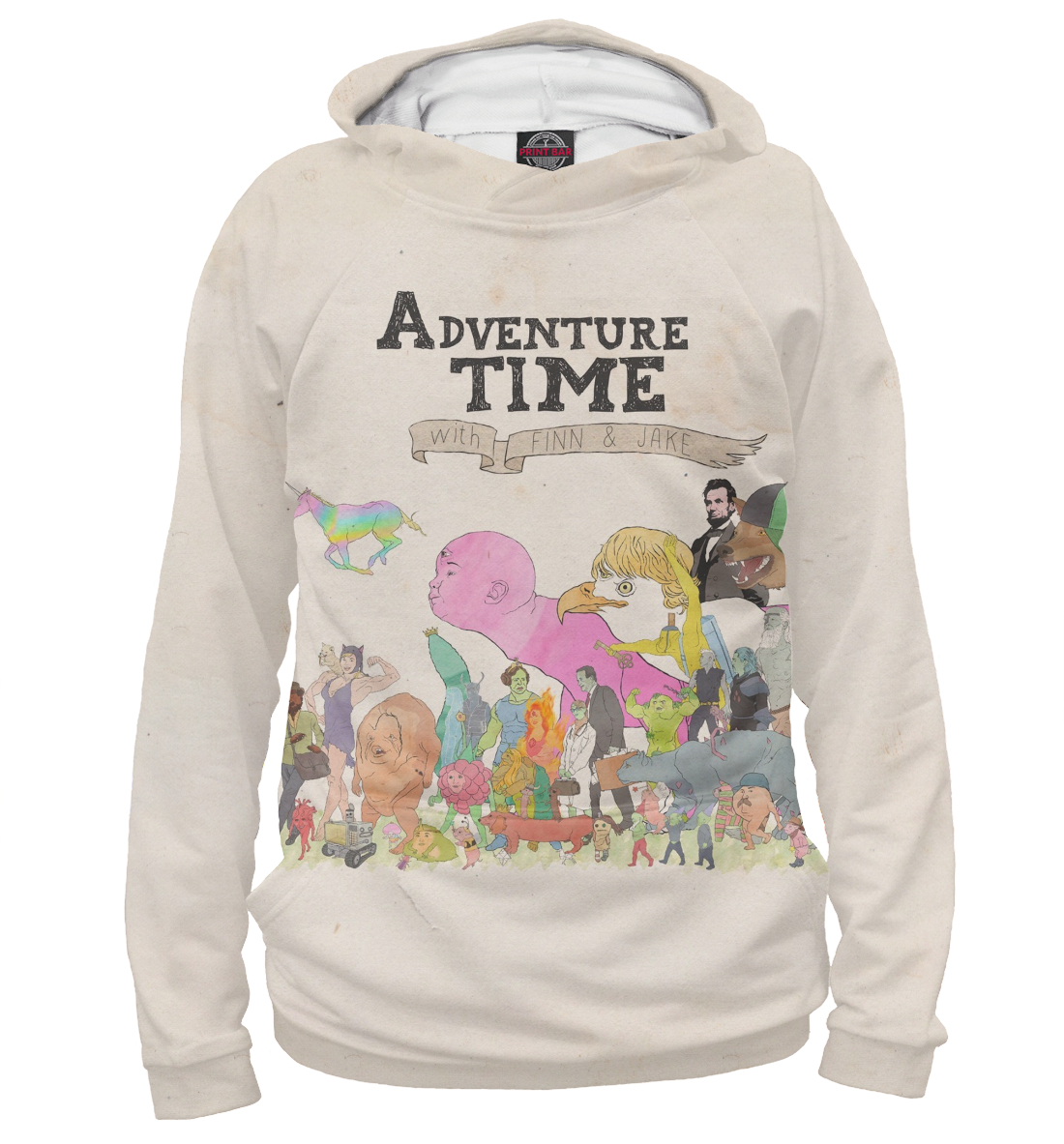 Купить Adventure Time with Finn and Jake, Printbar, Худи, ADV-935919-hud-1