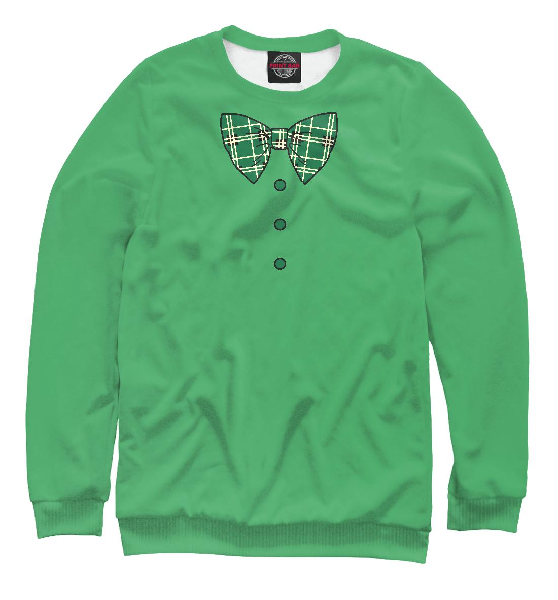 Купить Зеленый галстук бабочка в клетку, Printbar, Свитшоты, CST-438975-swi-1