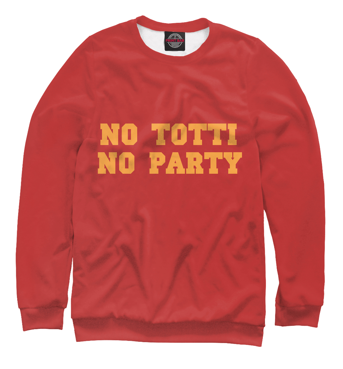Купить No Totti, No party, Printbar, Свитшоты, FTO-184855-swi-2