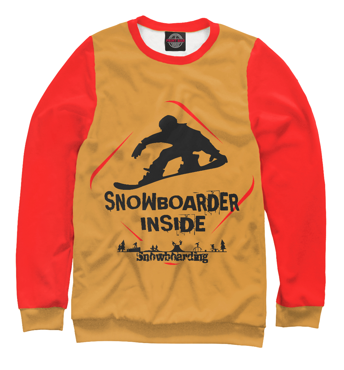 Купить Snowboarder Inside, Printbar, Свитшоты, SNW-910377-swi-1