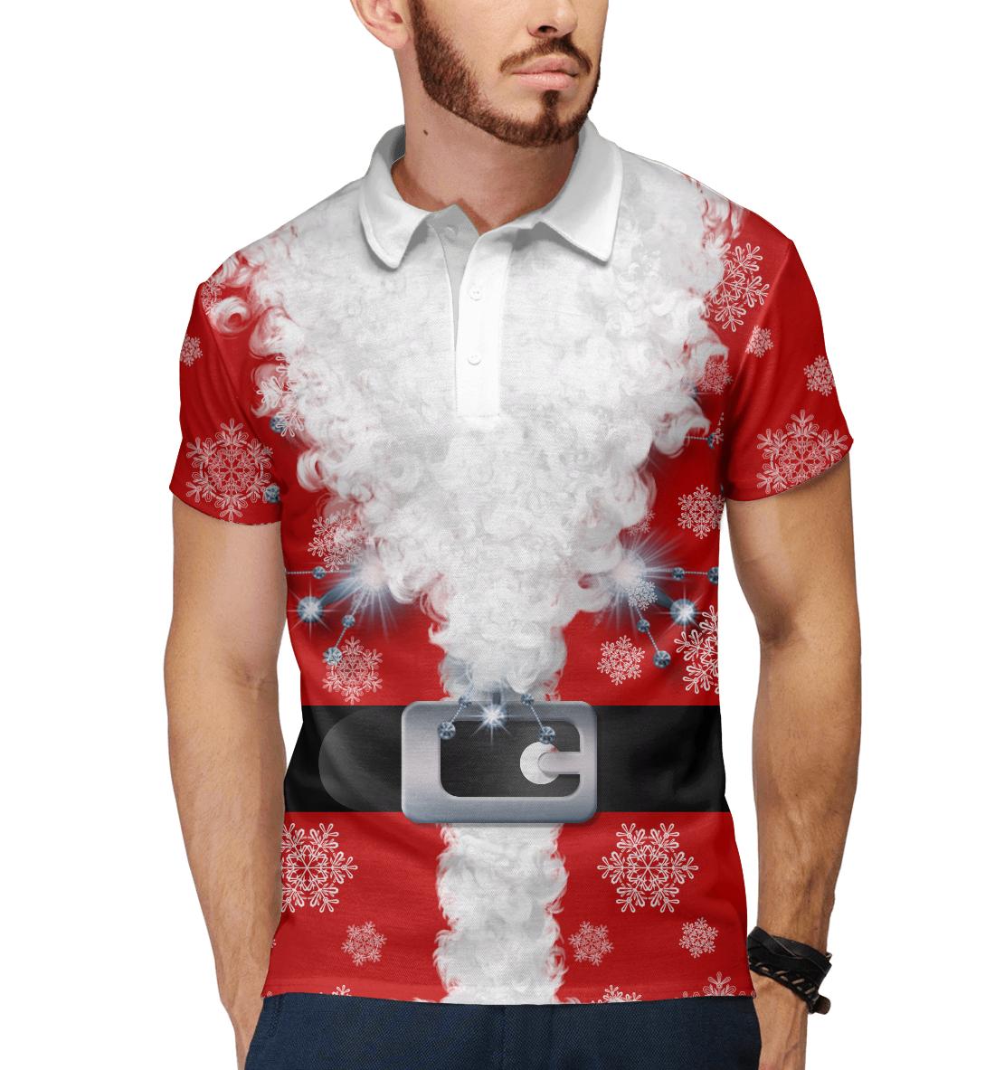 Купить Дед мороз, Printbar, Поло, CST-773312-pol-2