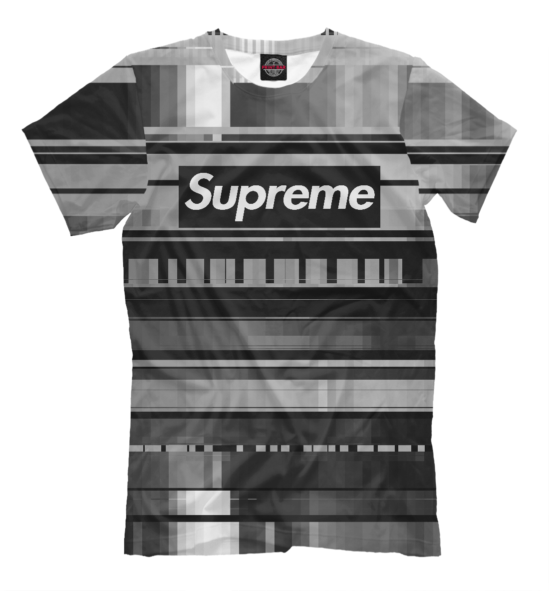 Купить Supreme Abstract Black&White, Printbar, Футболки, SPR-836407-fut-2