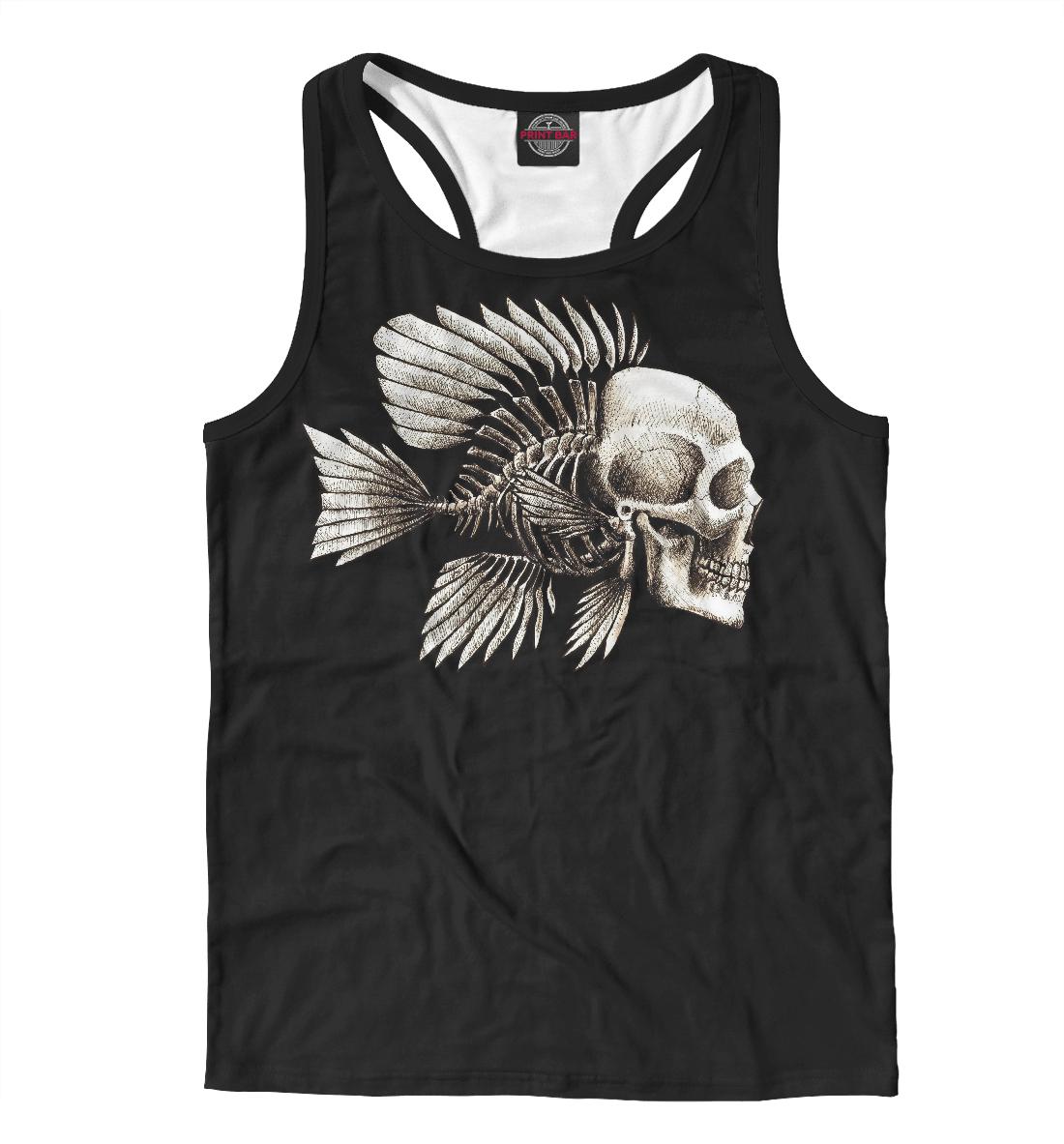 Купить Skull Fish, Printbar, Майки борцовки, SKU-392372-mayb-2