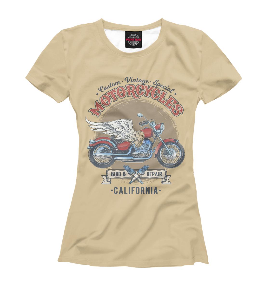 Vintage Motorcycles, Printbar, Футболки, MTR-670093-fut-1  - купить со скидкой