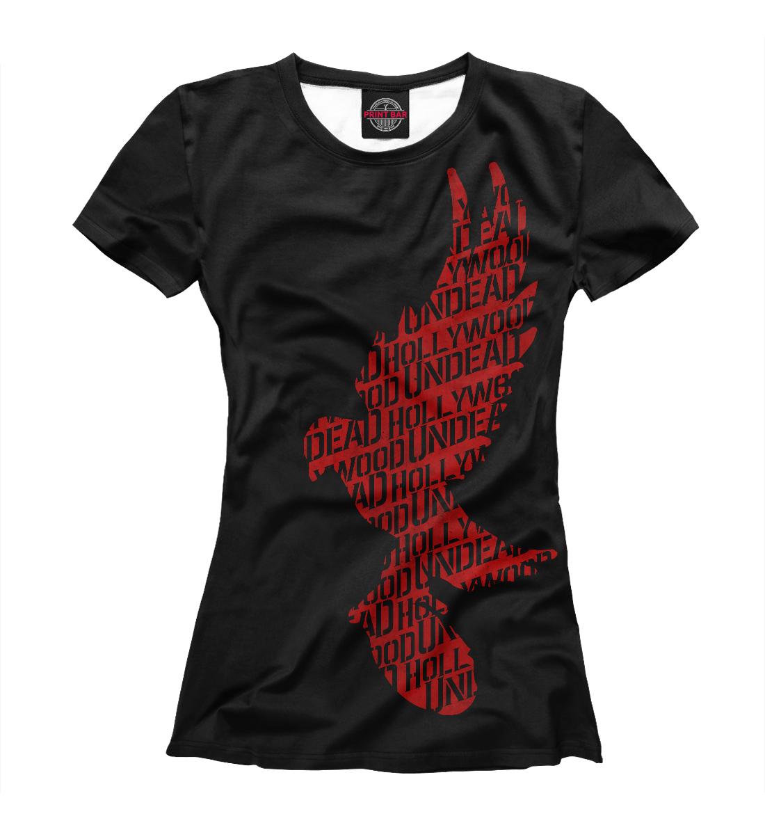 Купить Голубь red Hollywood Undead, Printbar, Футболки, HLW-697696-fut-1