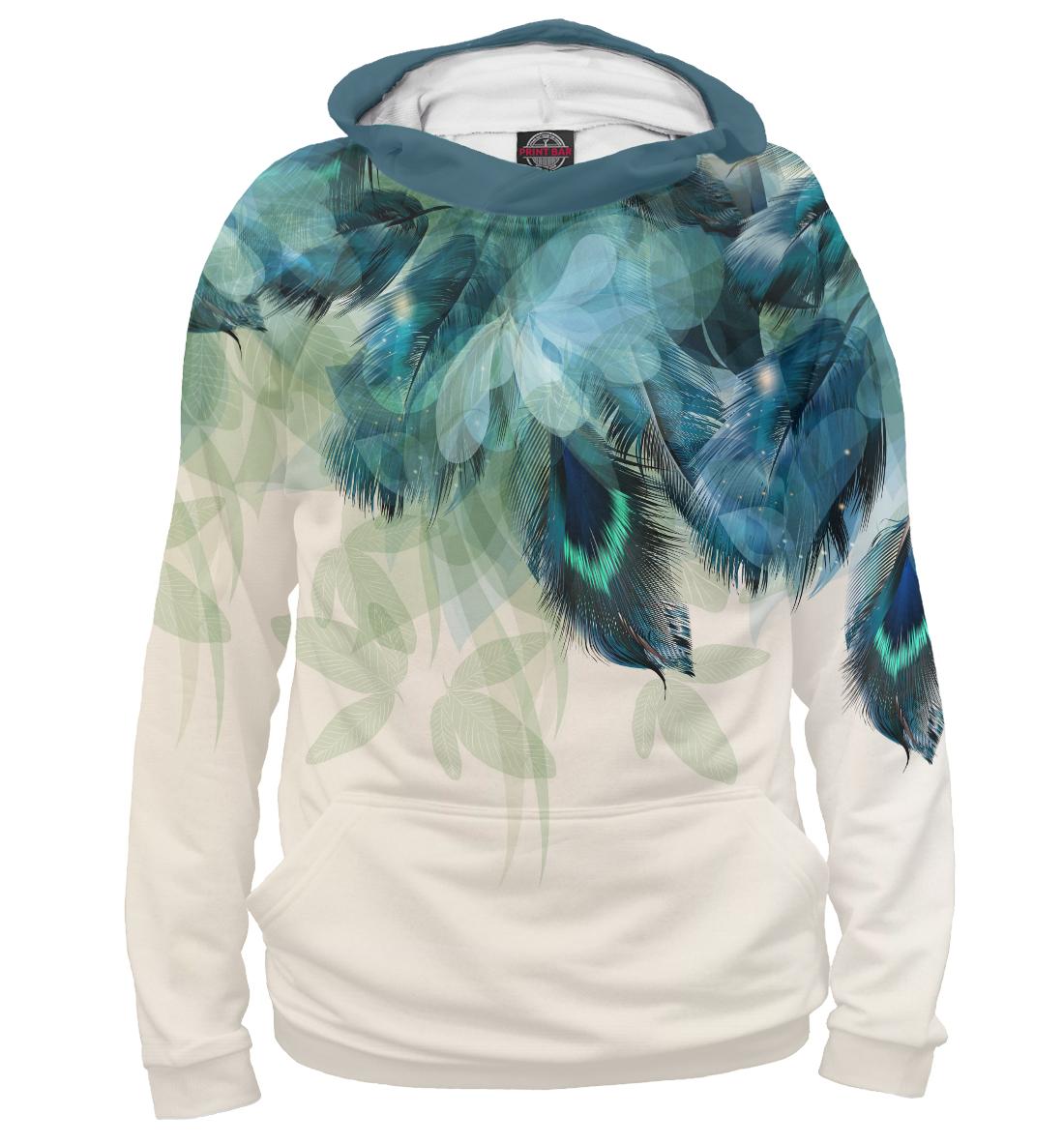 Купить Синие перья, Printbar, Худи, CLR-437454-hud-1