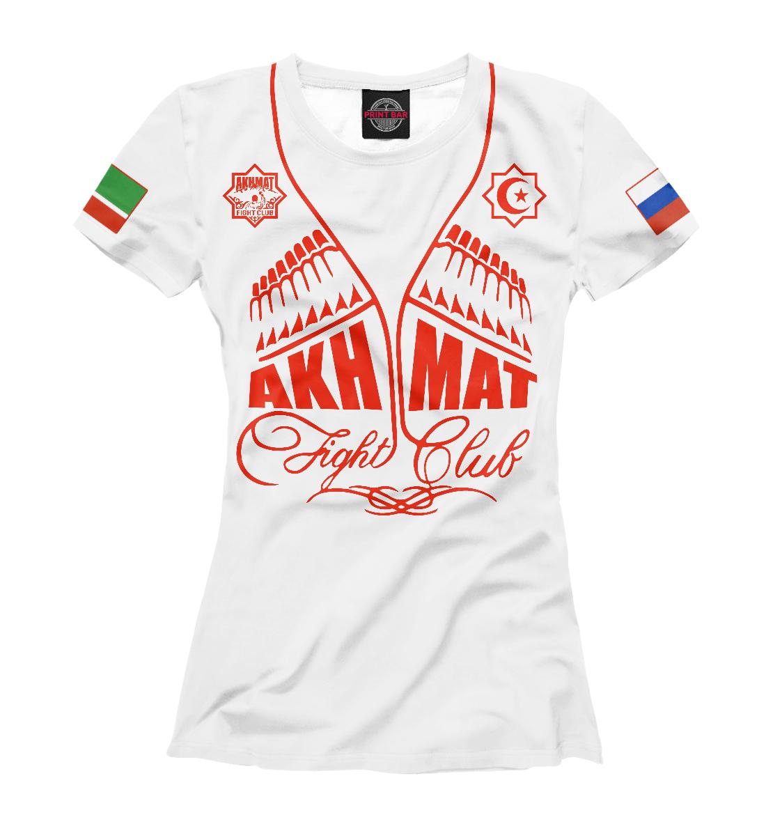 Купить Fight Club Akhmat White, Printbar, Футболки, AFC-571782-fut-1