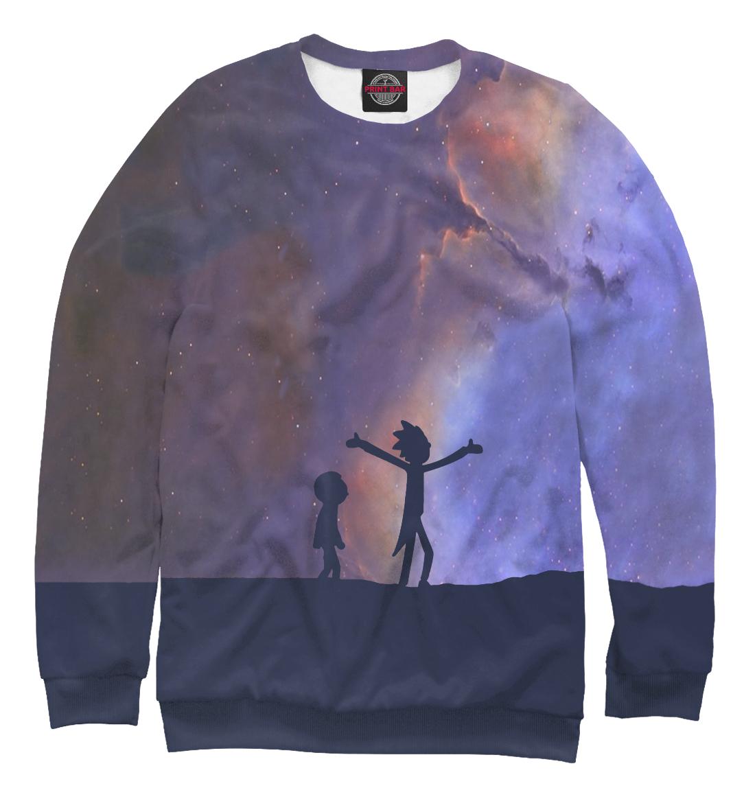 Купить Рик и Морти под звездным небом, Printbar, Свитшоты, RNM-293961-swi-1