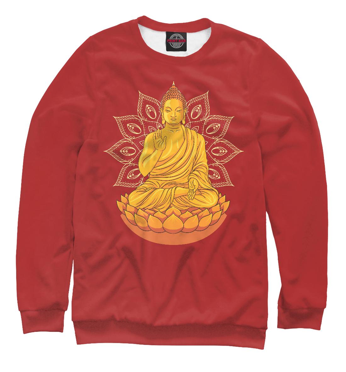 Купить Золотой Будда на лотосе с мандалой, Printbar, Свитшоты, PSY-619583-swi-1