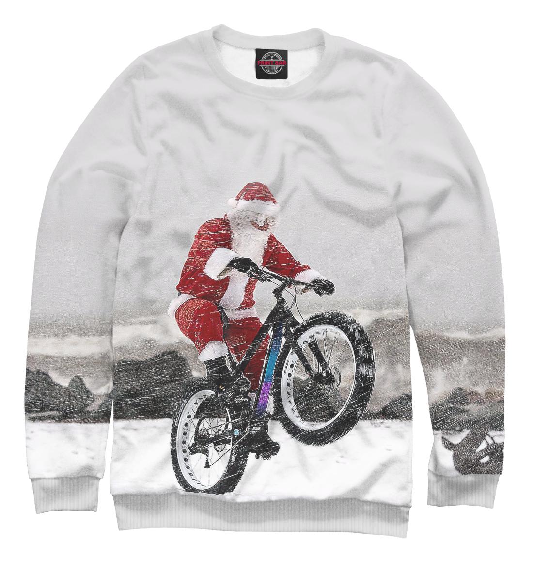 Купить Дед Мороз и его БАЙК, Printbar, Свитшоты, NOV-931405-swi-2