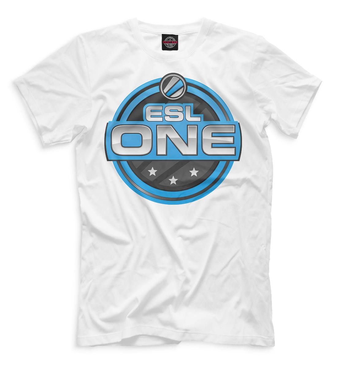 Купить ESL One Logo White, Printbar, Футболки, COU-571626-fut-2