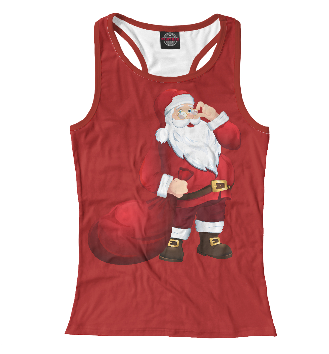 Купить Дед Мороз, Printbar, Майки борцовки, NOV-285651-mayb-1