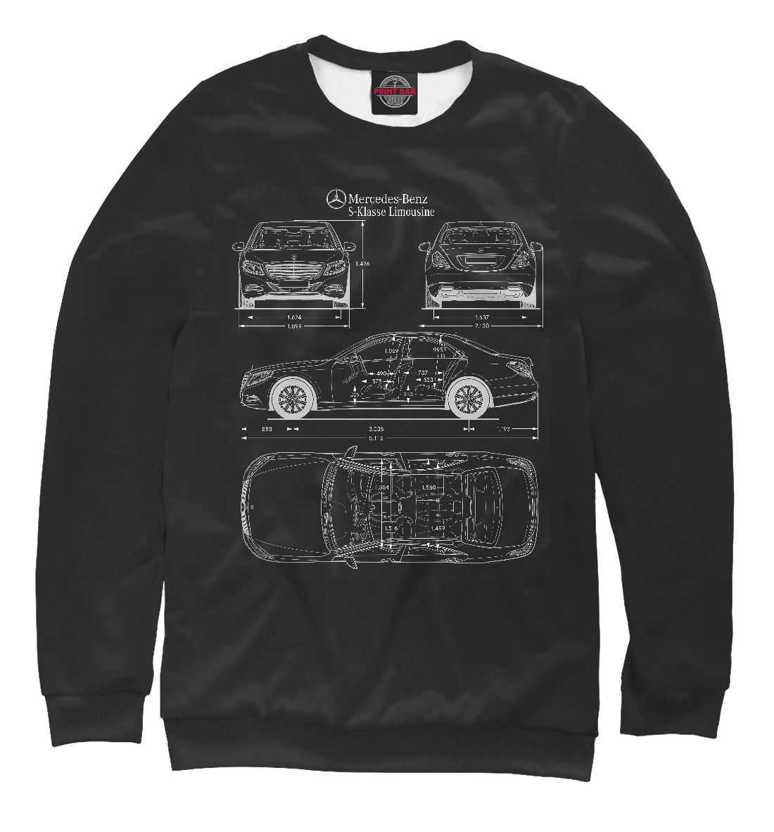Купить Mercedes-Benz W222 '13, Printbar, Свитшоты, MER-645812-swi-1