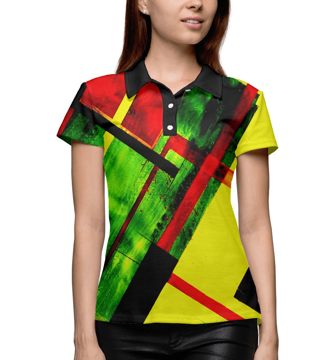 Купить Цветная геометрия, Printbar, Поло, GEO-170619-pol-1