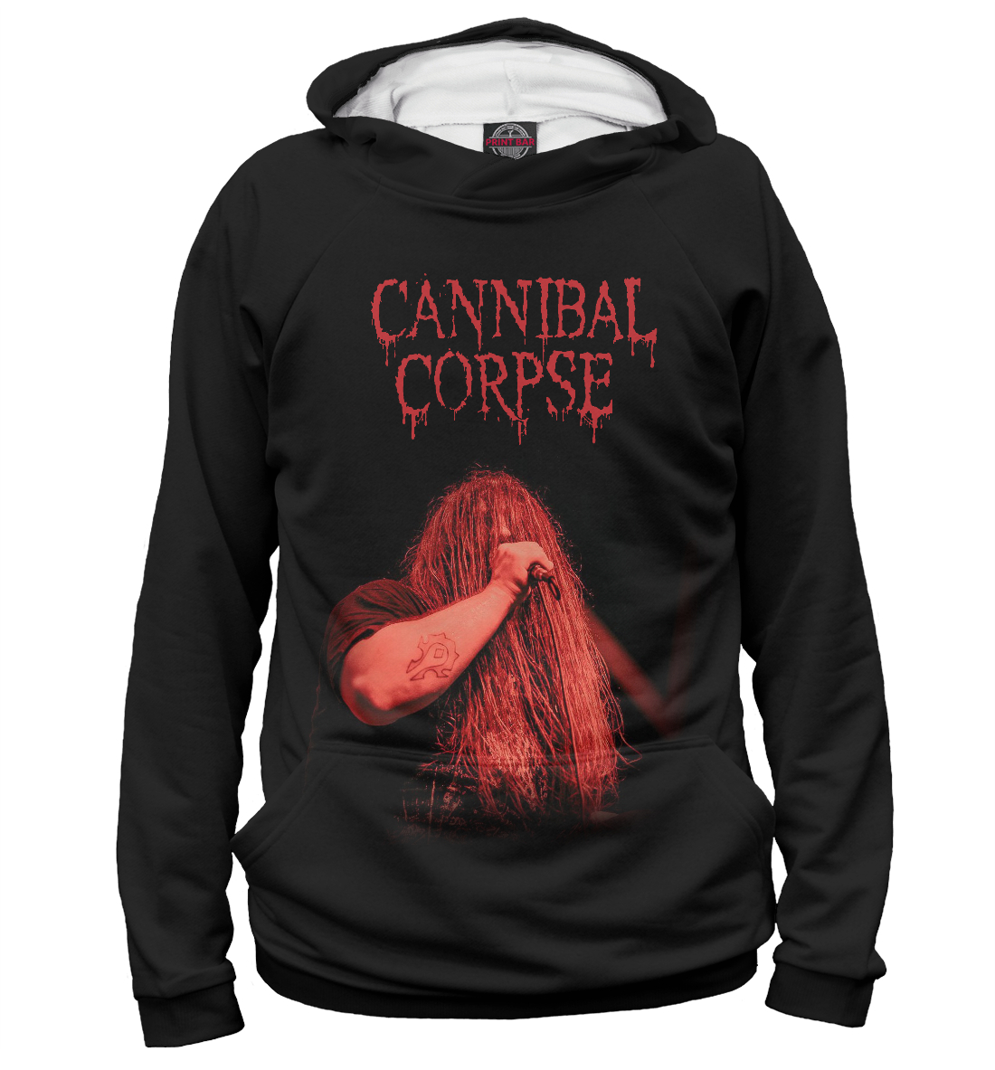 Купить George Fisher (Cannibal Corpse), Printbar, Худи, MZK-217329-hud-2