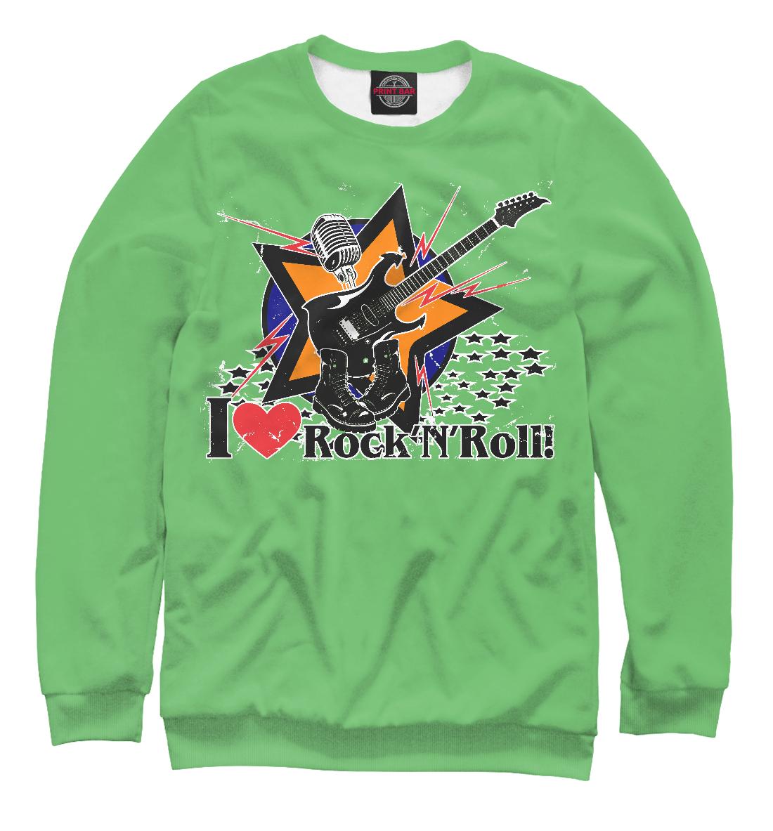 Купить I love Rock-n-nRoll, Printbar, Свитшоты, RCK-265320-swi-1