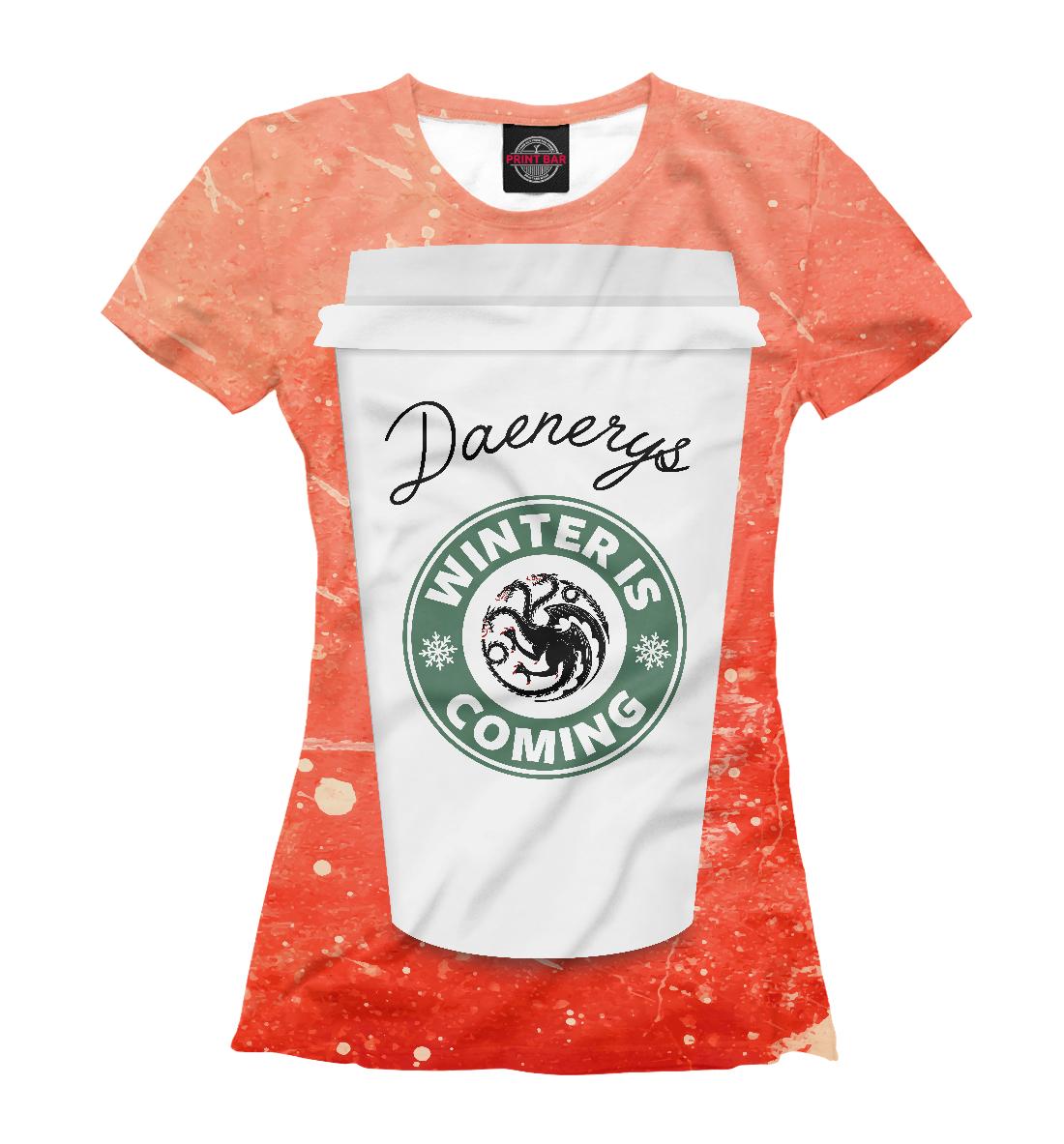 Купить Кофе для Дейенерис, Printbar, Футболки, IGR-756831-fut-1