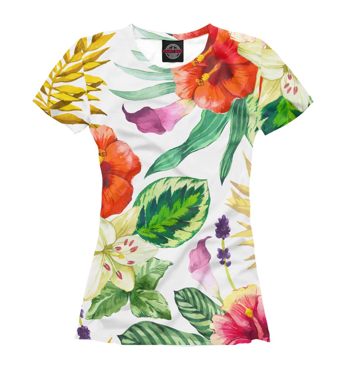 ЦВЕТЫ цветы, Printbar, Футболки, CVE-270295-fut-1  - купить со скидкой