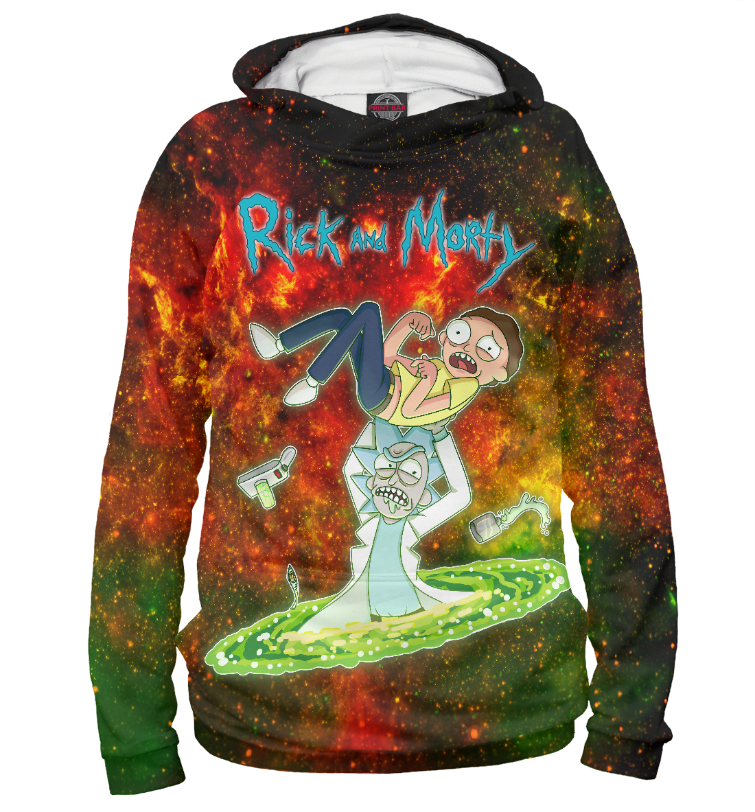 Купить Rick and Morty, Printbar, Худи, RNM-910317-hud-2