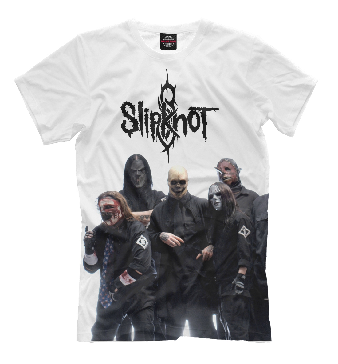 Купить Slipknot Band, Printbar, Футболки, SLI-117980-fut-2