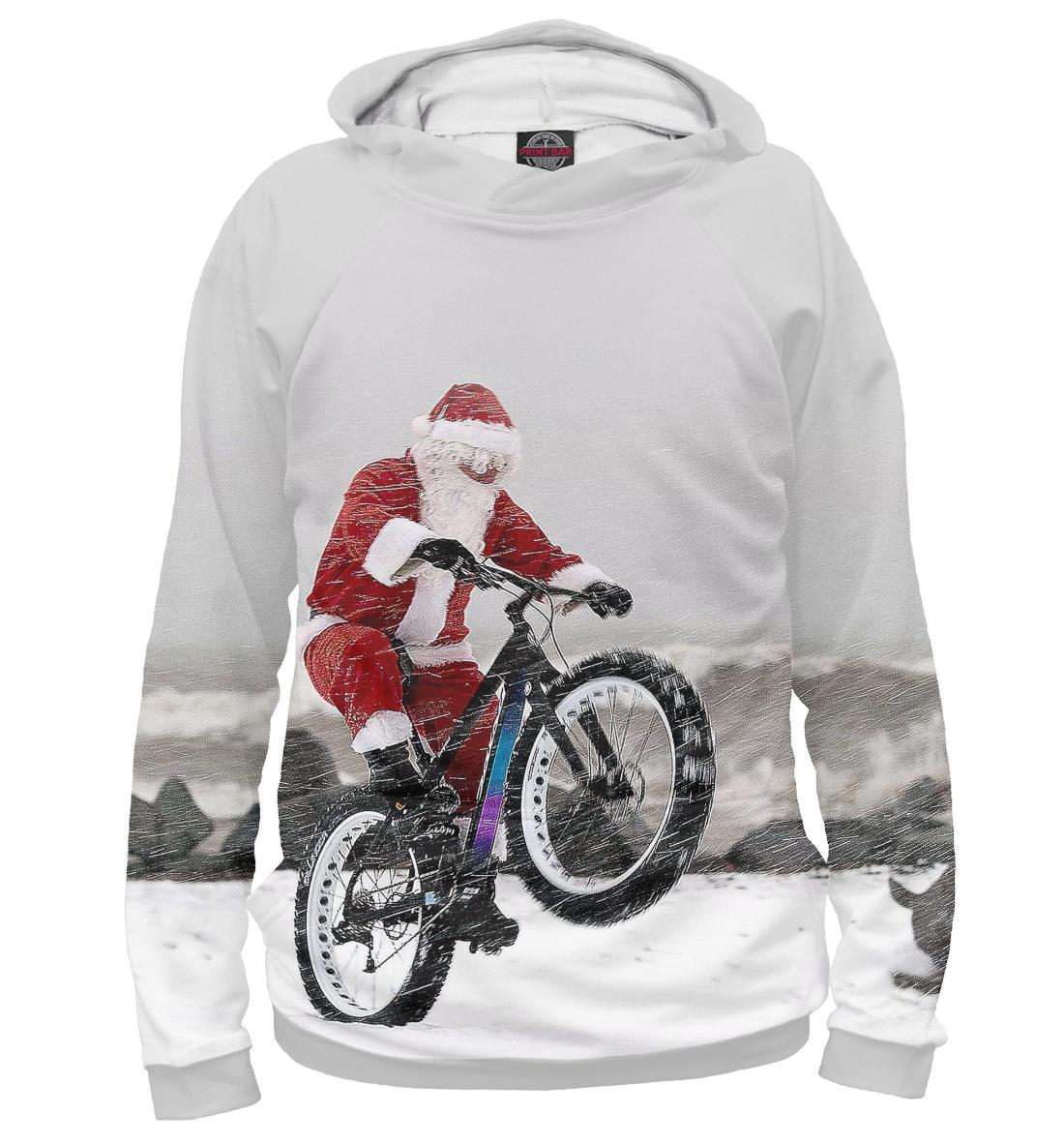 Купить Дед Мороз и его БАЙК, Printbar, Худи, NOV-931405-hud-1