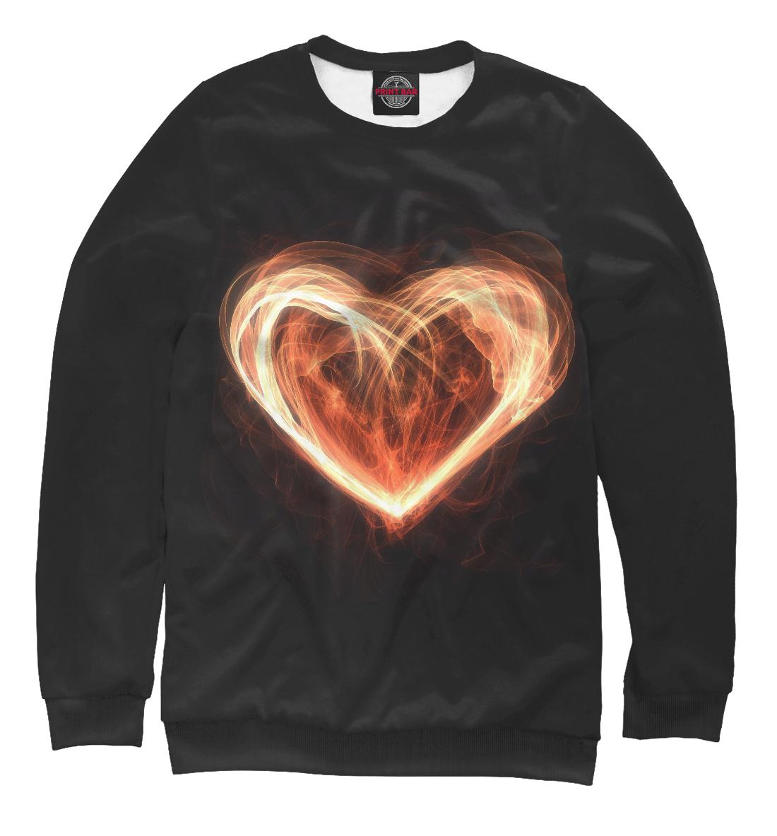 Купить Огненное сердце на чёрном фоне, Printbar, Свитшоты, SRD-494101-swi-1