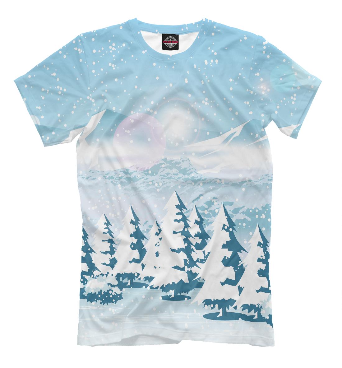 Купить Зимний пейзаж, Printbar, Футболки, PEY-100044-fut-2