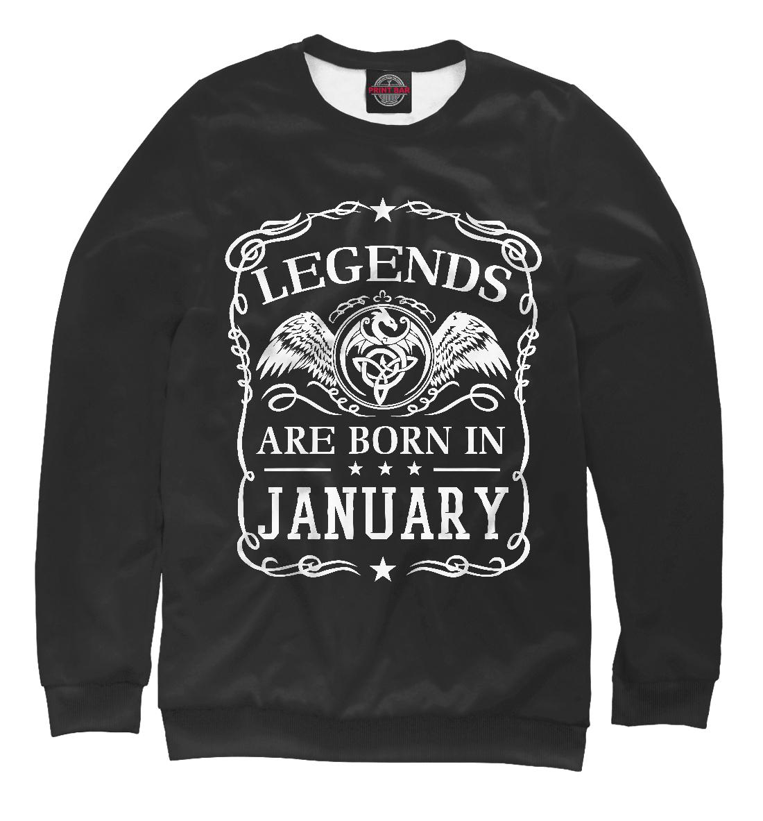 Купить Легенды рождаются в январе, Printbar, Свитшоты, RZP-667259-swi-1