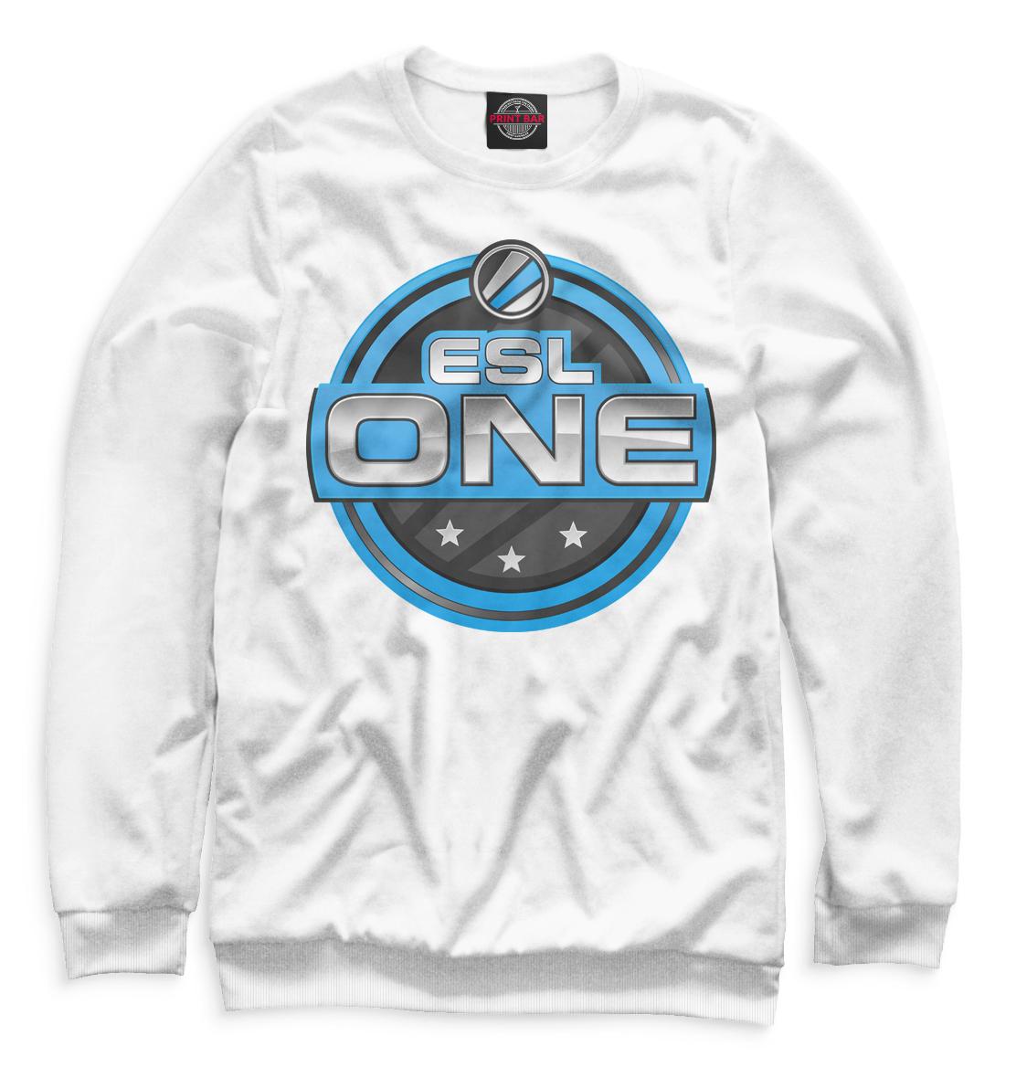 ESL One Logo White, Printbar, Свитшоты, COU-571626-swi-1  - купить со скидкой