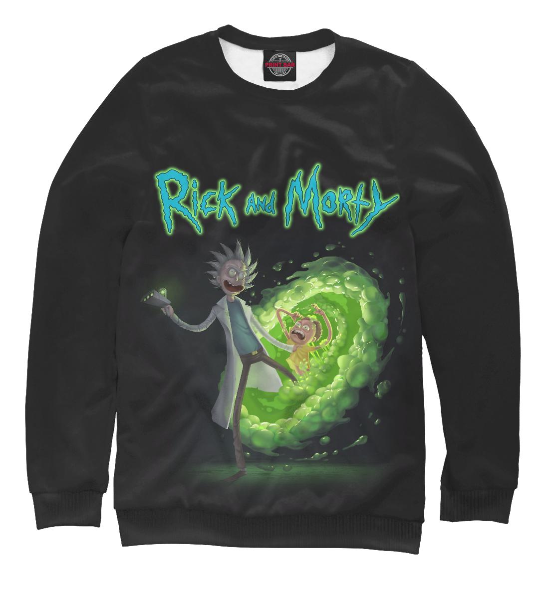Купить Rick and Morty and 3D Portal, Printbar, Свитшоты, RNM-675402-swi-2