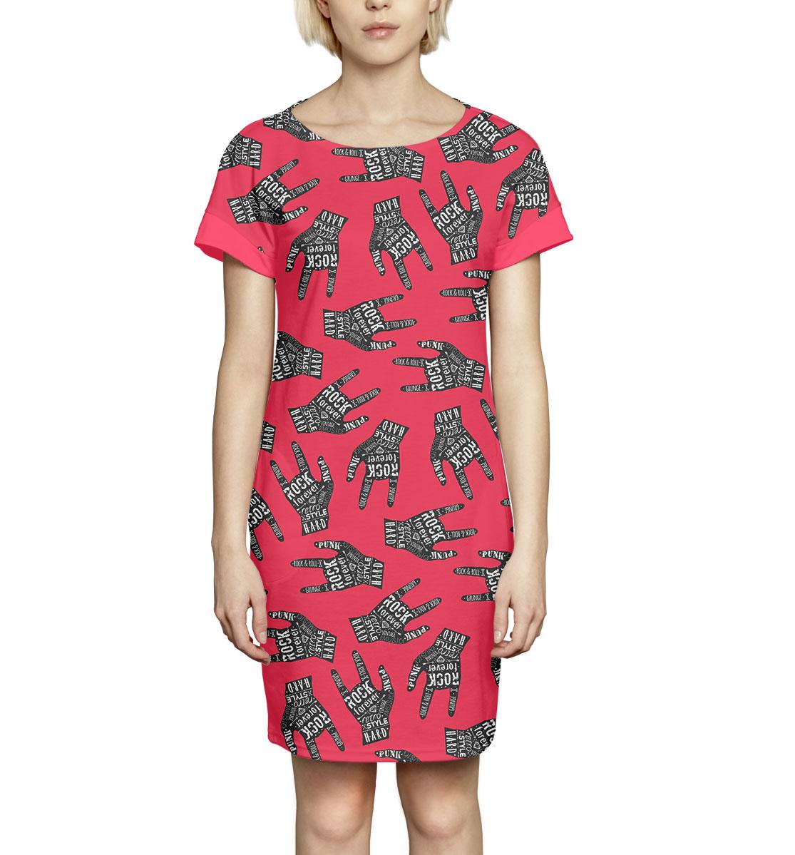 Купить Рок, Printbar, Платье летнее, NWT-147249-pkr-1