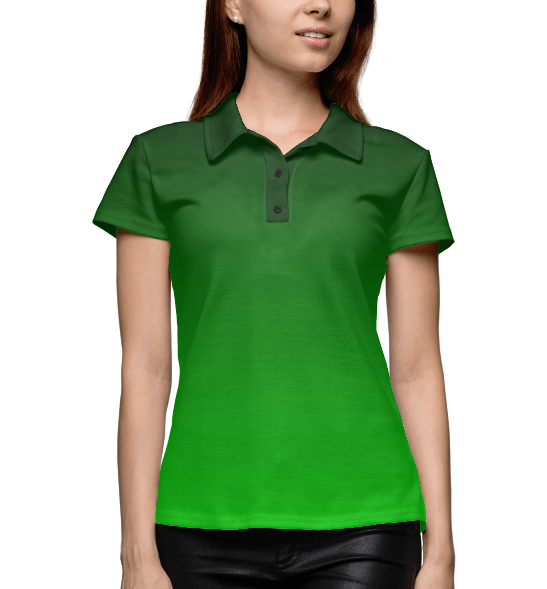 Купить Градиент Зеленый в Черный, Printbar, Поло, CLR-327769-pol-1