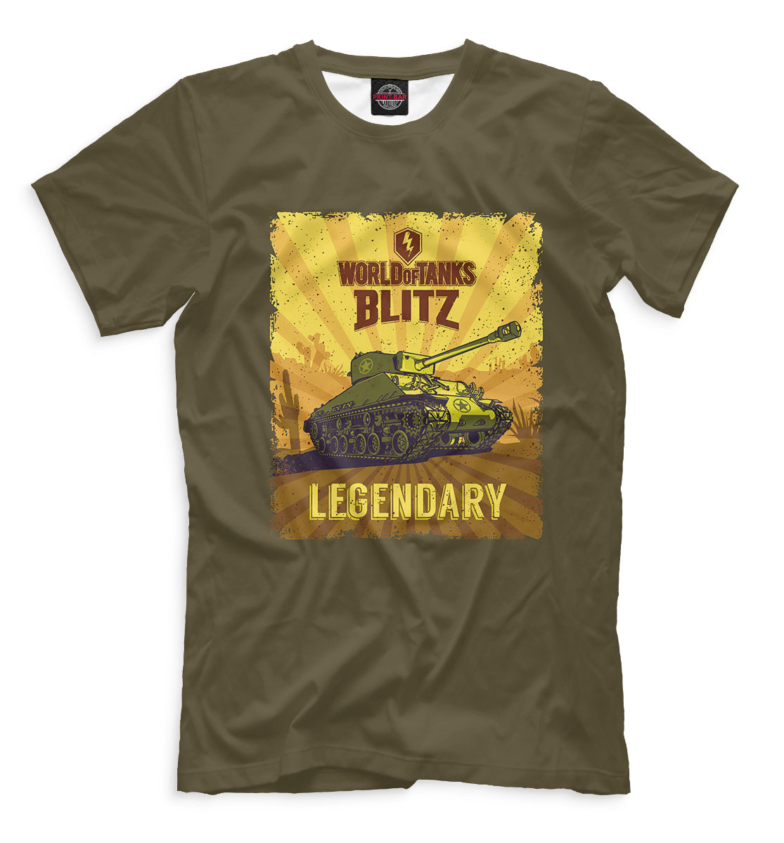Купить World of Tanks Blitz, Printbar, Футболки, WTB-501167-fut-2