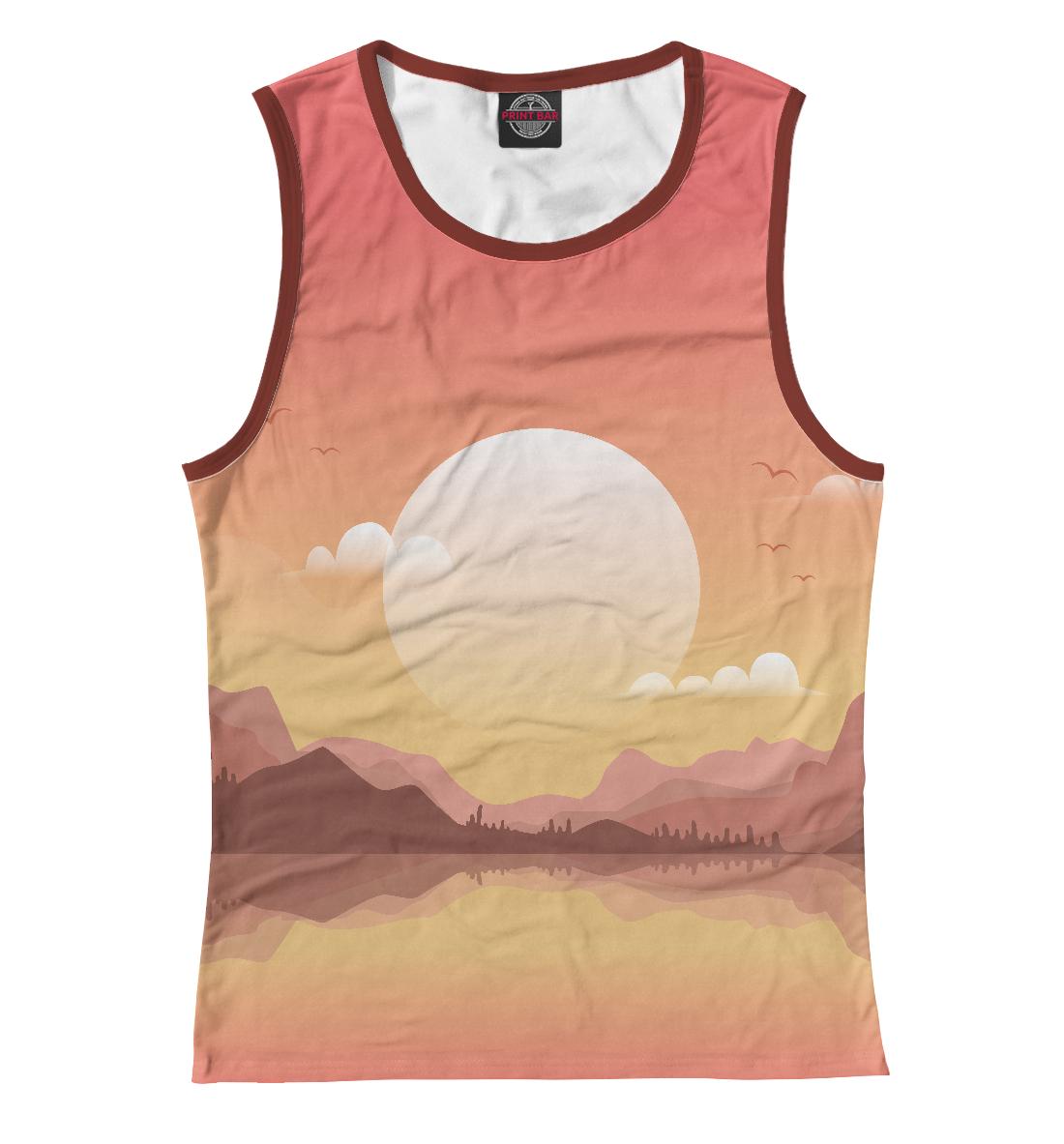 Купить Восход на горами, Printbar, Майки, SUN-747266-may-1