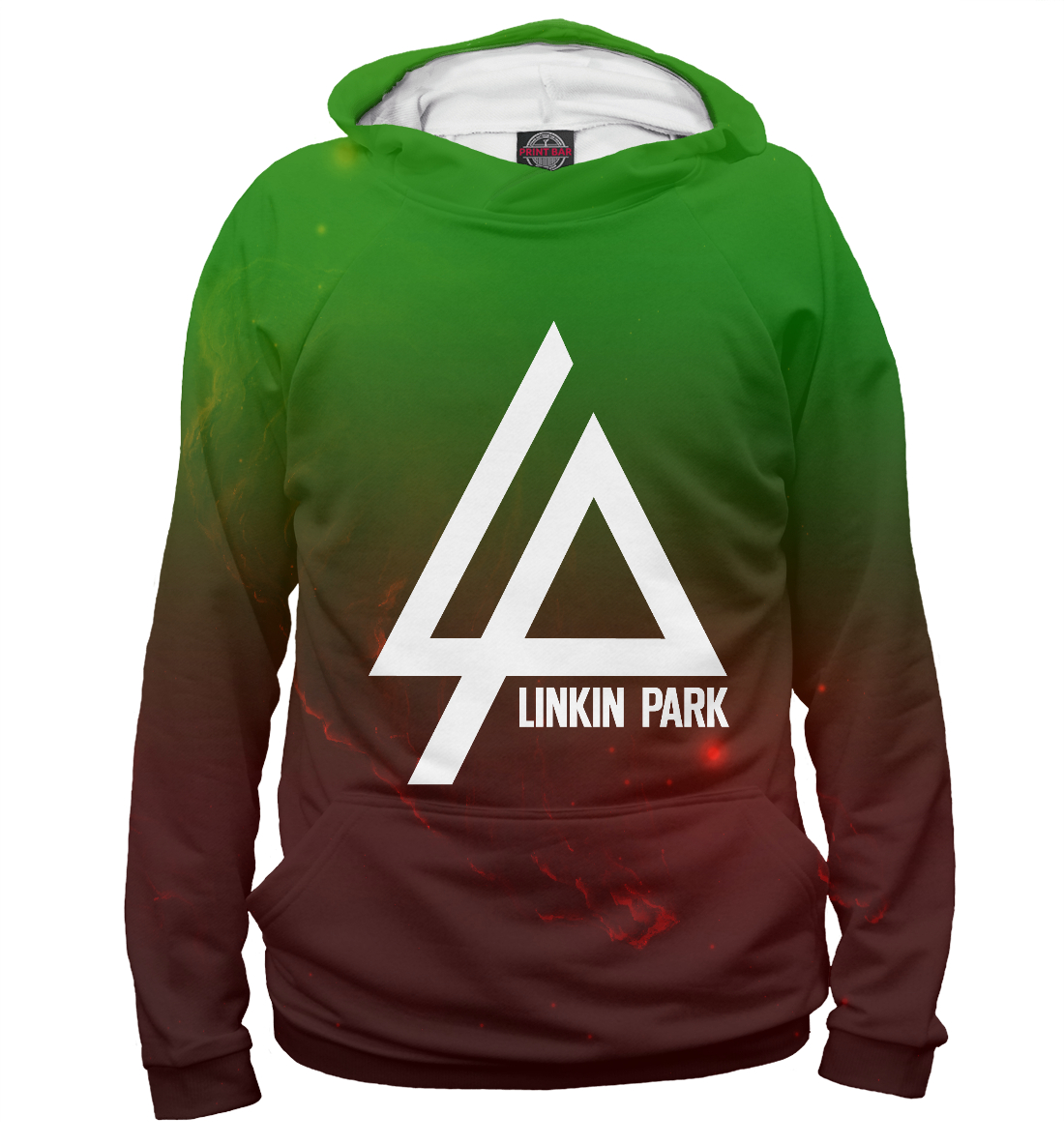 Купить Linkin park space color, Printbar, Худи, LIN-898471-hud-2