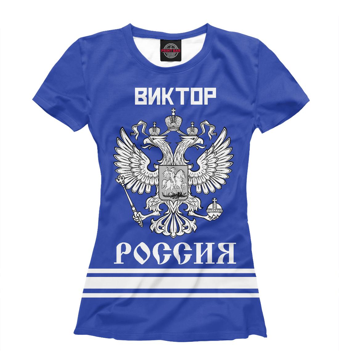 Купить ВИКТОР sport russia collection, Printbar, Футболки, VKT-521173-fut-1