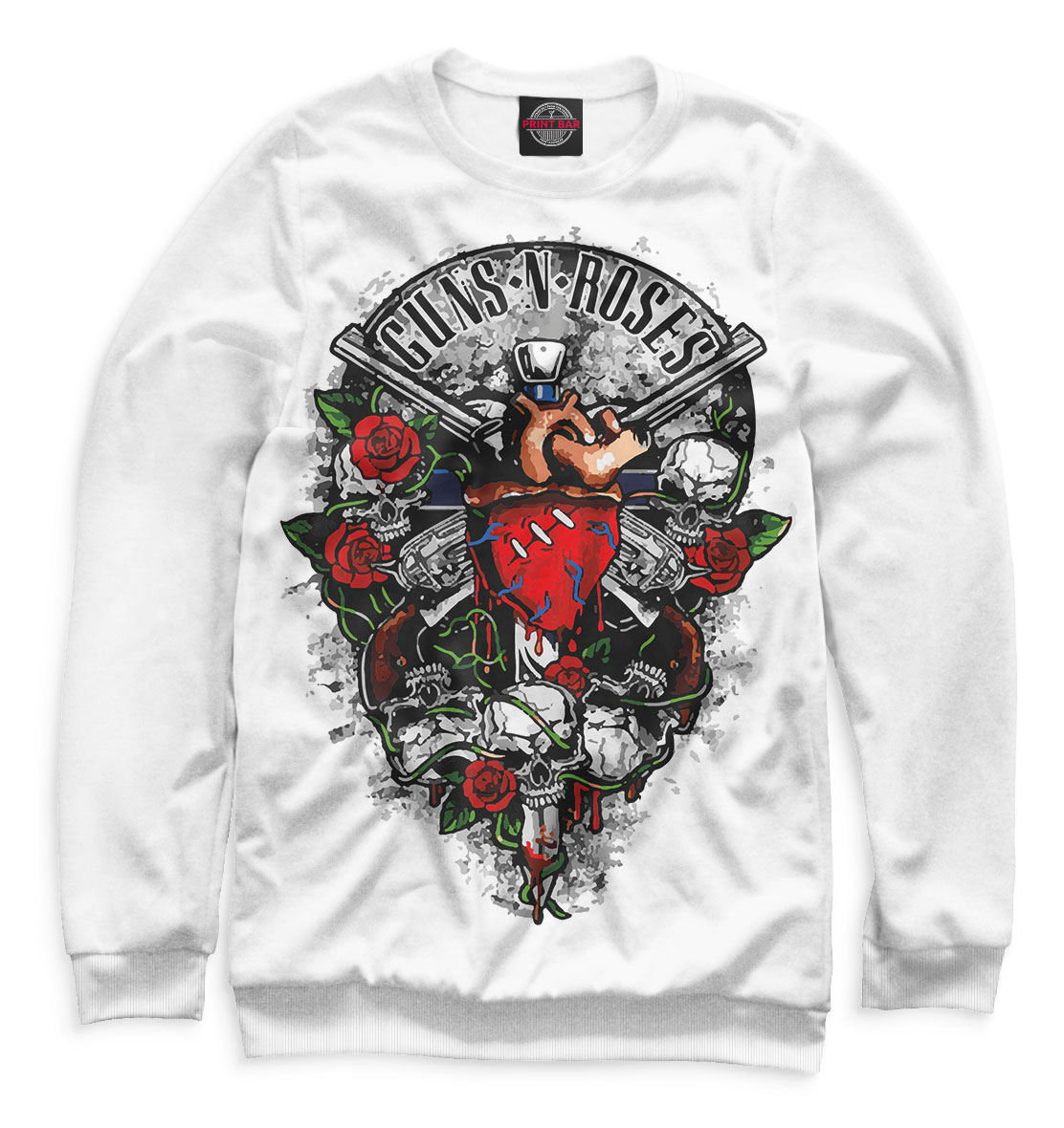 Купить Guns N' Roses, Printbar, Свитшоты, GNR-168036-swi-2