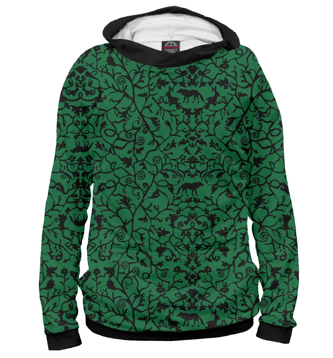 Купить Abstract Wolf Green, Printbar, Худи, ABS-712445-hud-2