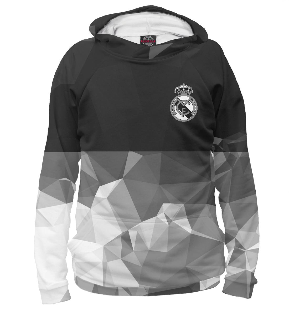 Купить Real Madrid Polygons, Printbar, Худи, REA-308559-hud-2