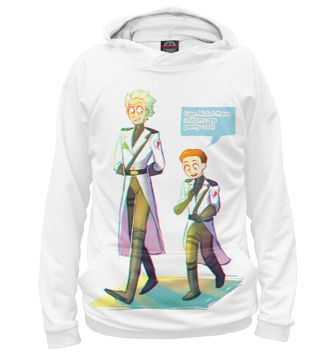 Купить Rick and Morty Uniforms, Printbar, Худи, RNM-414709-hud-2