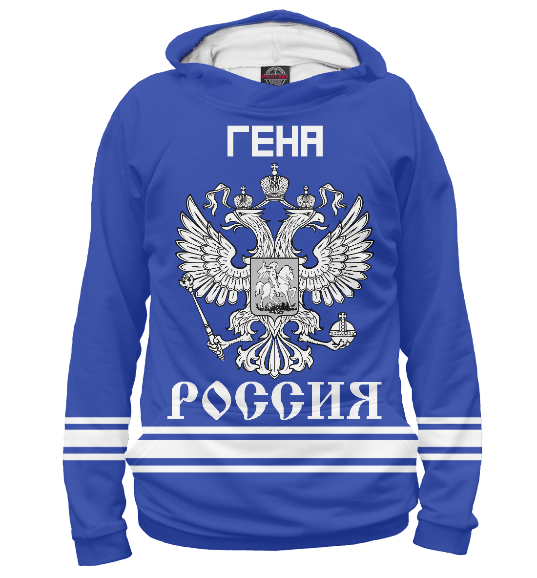 Купить ГЕНА sport russia collection, Printbar, Худи, IMR-299532-hud-1