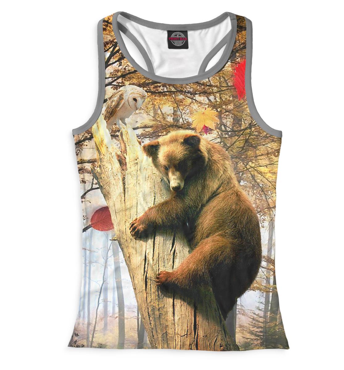 Купить Медведь на дереве, Printbar, Майки борцовки, MED-400288-mayb-1