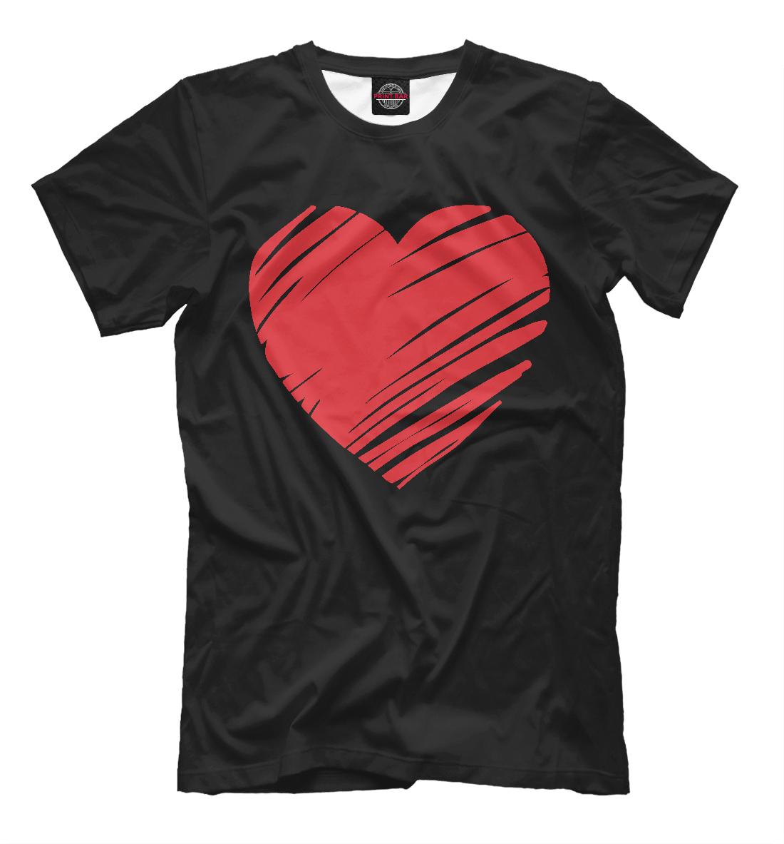 Купить Ленточное сердечко, Printbar, Футболки, 14F-993145-fut-2