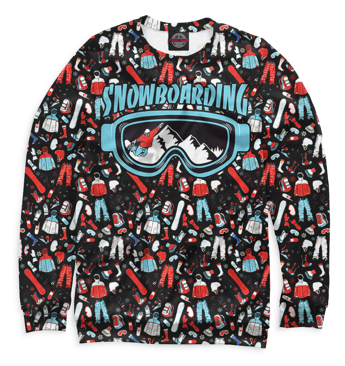 Купить Сноубординг, Printbar, Свитшоты, SNW-632438-swi-1