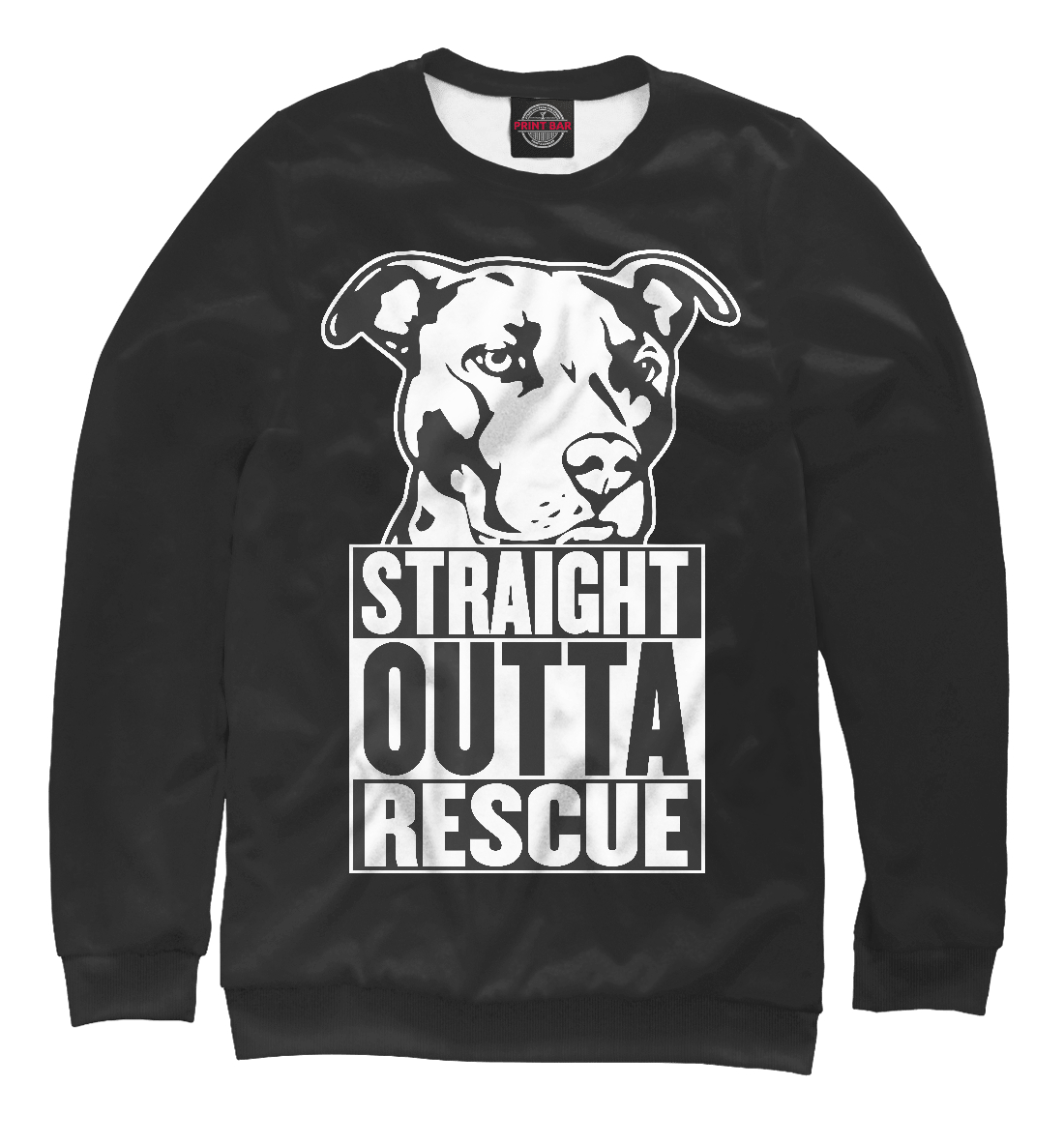 Купить Straight Outta Rescue, Printbar, Свитшоты, DOG-944152-swi-2