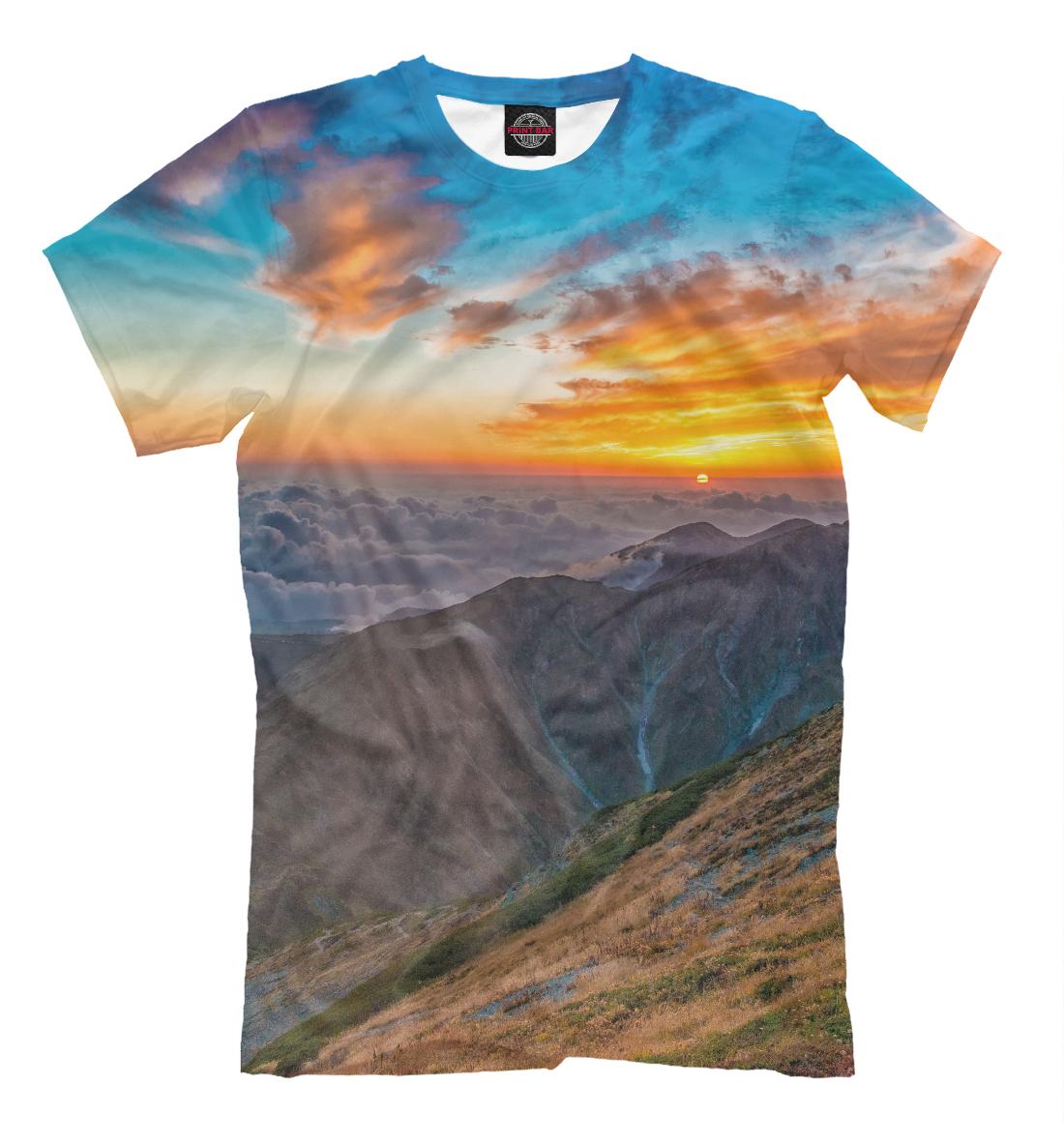 Купить Горный пейзаж, Printbar, Футболки, PEY-118816-fut-2