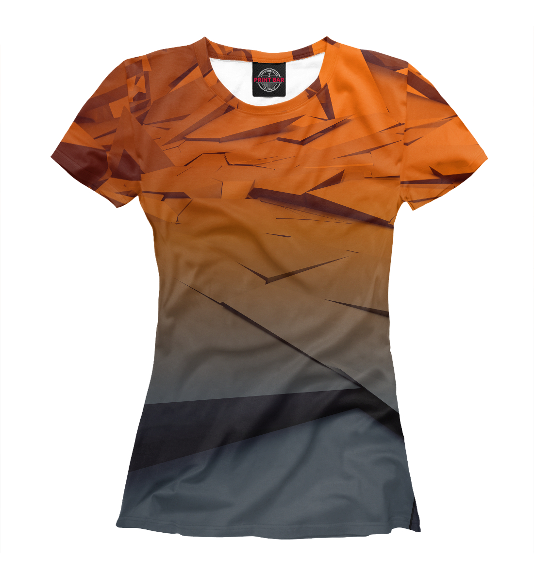 Купить Abstraction gray&orange collection, Printbar, Футболки, ABS-108682-fut-1