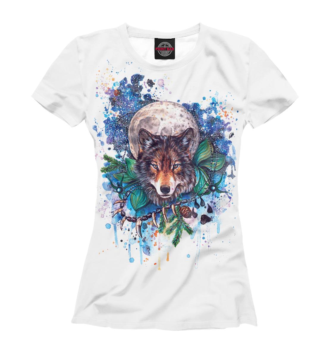 Купить Акварельный волк, Printbar, Футболки, VLF-353309-fut-1